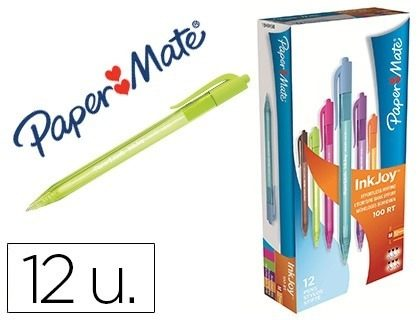 Boligrafos Inkjoy 100rt Colores 12 Unidades