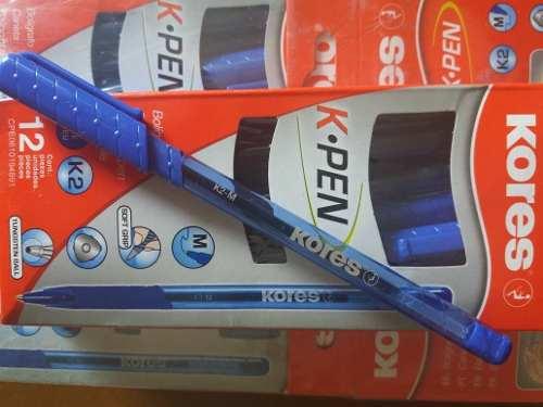 Boligrafos Kores Azul (caja De *12 Unidades)