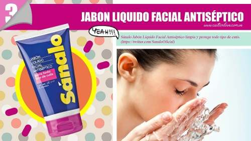 Jabón Liquido Facial Sanalo Antiséptico Todo Tipo Cutis