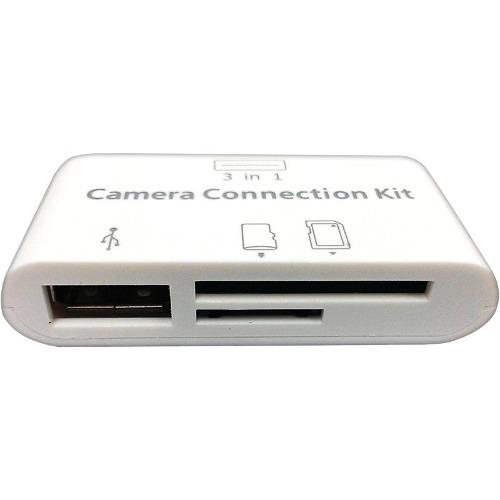 Lector Memorias 3 En 1 Apple Ipad 4 Ipad Mini Usb Nuevo Otg