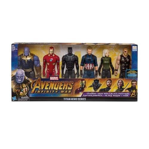 Marvel Infity War Muñecos Figuras 6 Pack De 30 Cm Original