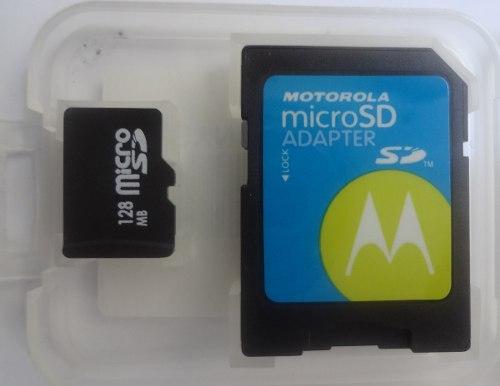 Memoria Micro Sd 128 Mb Motorola