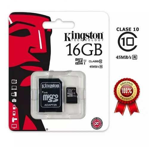 Memoria Micro Sd 16 Gb Original Kingston Clase 10