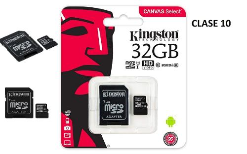 Memoria Micro Sd 32gb Kingston Canvas Clase10 Sellada Nueva