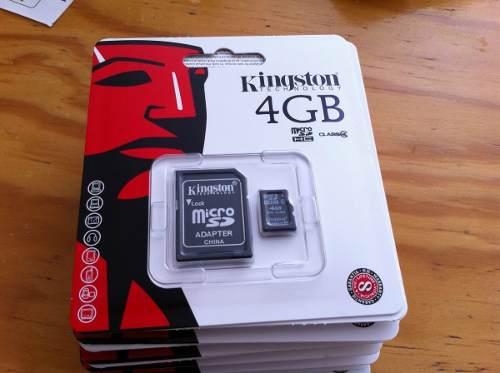Memoria Micro Sd Kingston 4 Gb
