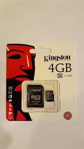 Memoria Micro Sd Kingston 4gb Original Clase 4