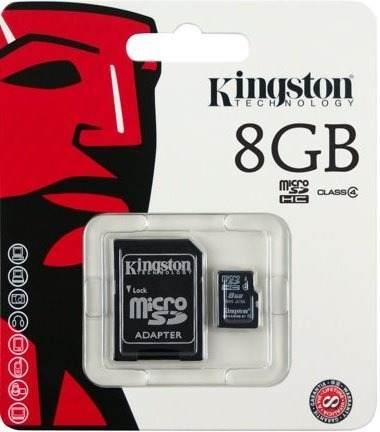 Memoria Micro Sd Kingstone 8 Gb Con Adaptador Selladas