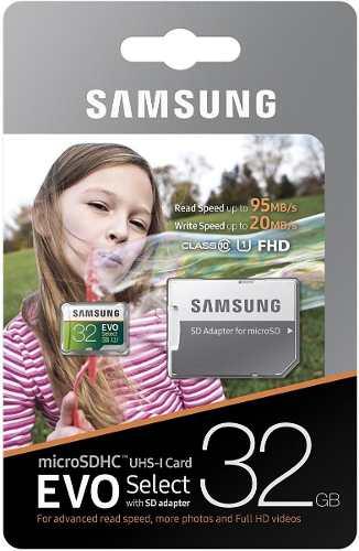Memoria Micro Sd Samsung 32 Gb Clase 10 Original (blister)