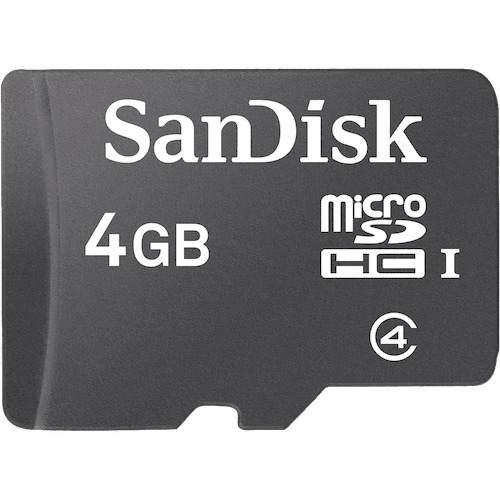 Memoria Microsd 4gb, Micro Sd R4, Mp3, Celulares. Sandisk