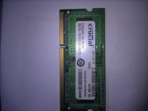 Memoria Ram De 2 Gb Ddr3 Crucial Laptop Nueva