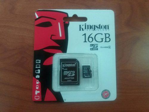 Micro Sd 16gb Kingston Adaptador Blister Original Clase 10