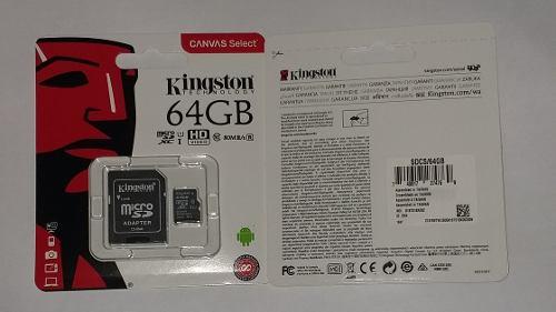 Micro Sd De 64gb Kingston Original Clase 10