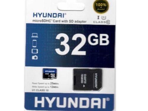 Tarjeta De Memoria Micro Sdhc Hyundai 32 Gb, Clase 10