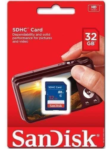 Tarjeta Memoria Sd Sdhc Sandisk 32 Gb En Tienda Física