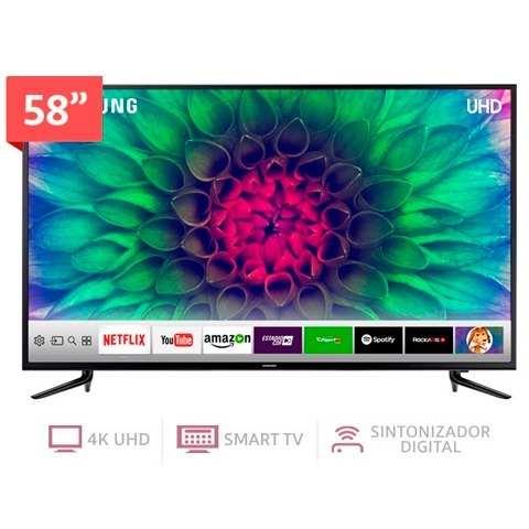 Televisor Smart Tv 4kuhd De 58 Pulgadas Samsung Un58mu