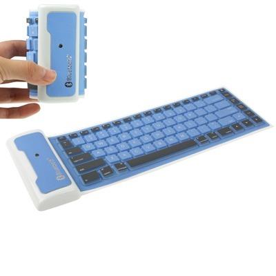 84 Clave Mini Bluetooth Teclado Flexible Silicona Para Ipad