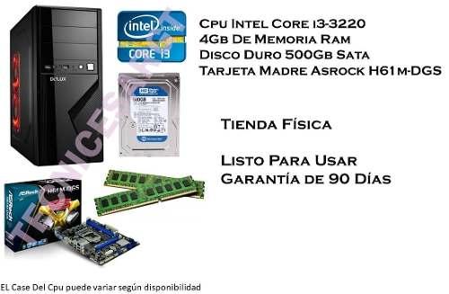 Cpu Computadora Intel Core Igb De Ram 500gb Disco