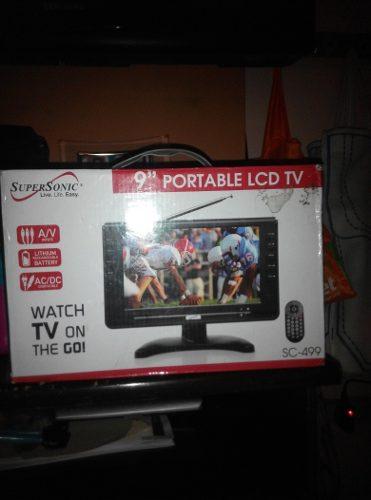 Tv Portable Lcd 9 Pulgadas A Color Marca Supersonic