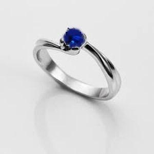 Anillo Compromiso Mod. Pp14 - Zafiro Azul Talla Extra 7