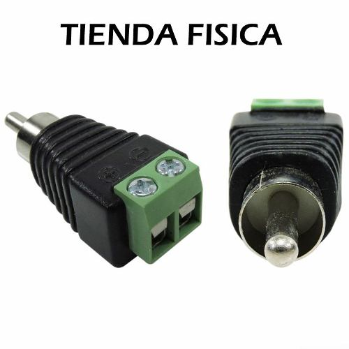 Conector Adaptador Rca Macho Audio Cable Utp Cctv Camaras