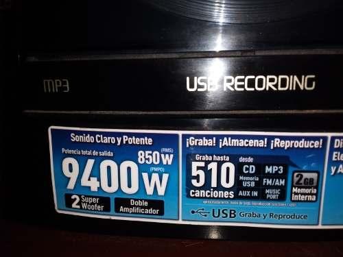 Equipo De Sonido Panasonic En Perfectas Condiciones