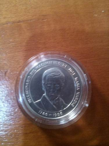 Moneda Conmemorativa Jose Maria Vargas