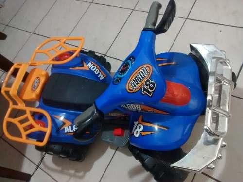 Moto De Bateria De 4 Ruedas Para Niños