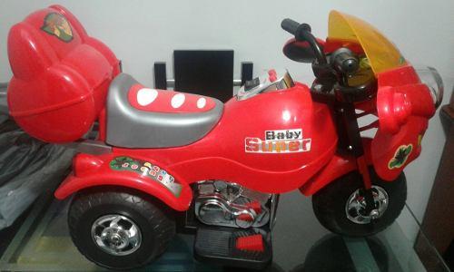 Moto Electrica Para Niños Con Bateria 6 Voltio Sonidos
