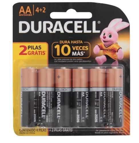 Pilas Alcalinas Duracell Original Pack 6 Unidades Aaa Y Aa