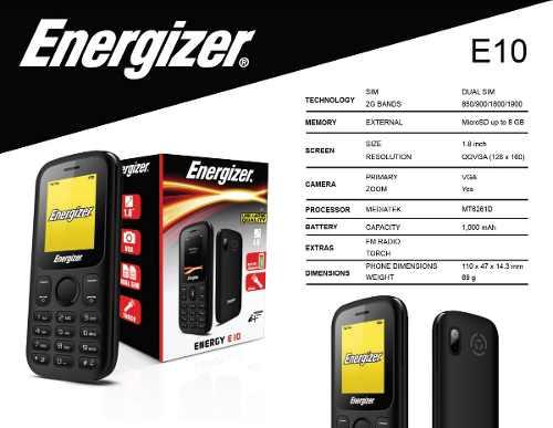 Teléfono Celular Económico Liberado Dual Sim Energizer E10