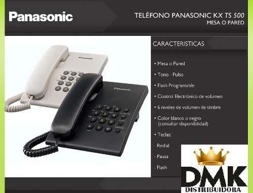 Teléfono De Mesa Panasonic Modelo 500mx(blanco Y Negro)