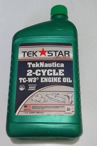 Aceite Tek Star Para Motor 2 Tiempos Fuera De Borda.