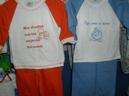Pijama Bebe Manga Larga Talla 1,2,3 Regalo Economico Algodon