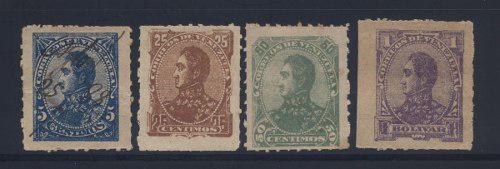 1887 Serie Estampillas De Venezuela Efigie De Simon Bolivar