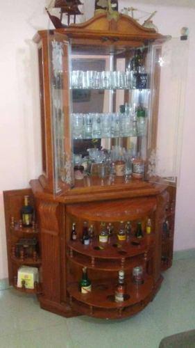 Bar Vitrina De Lujo Con Cristaleria