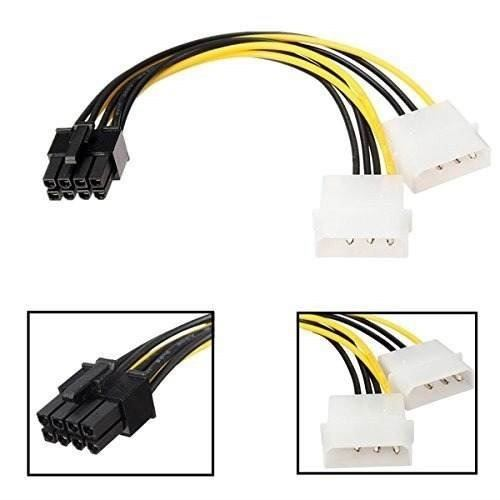 Cable Adaptador Molex A Pci Ex 6 Y 8 Pin Gpu El Importado