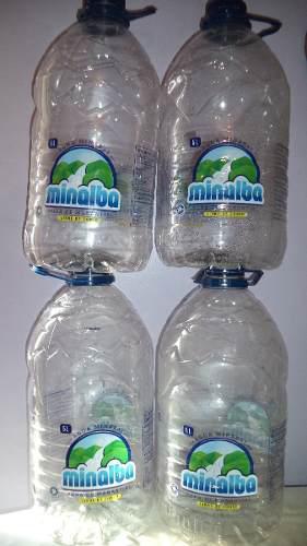 Envases Platicos De 5 Litros De Agua Mineral