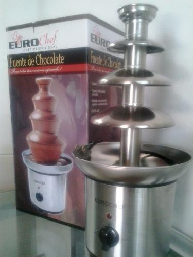 Fuente De Chocolate Eurochef 4 Niveles De Acero Inoxidable