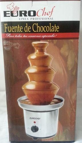 Fuente De Chocolate Eurochef Grande 4 Niveles Nueva