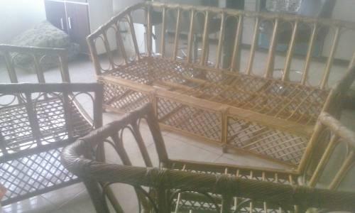 Juego De Sala Bambu O Rattan.