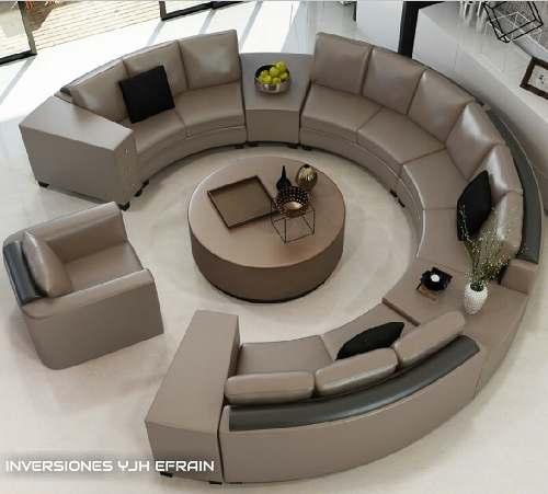 Juego Muebles Sofa Poltrona Mesa Sala Comedor Moderno Modula