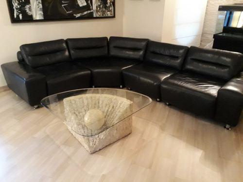 Mueble Modular De Cuero En Perfecto Estado..!!!