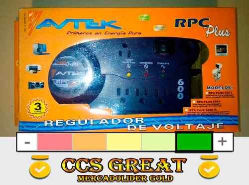 Regulador De Voltaje Avtek Plus 600 Rpc 4t Oferta De Reyes