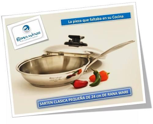 Sarten Clásica Pequeña Con Tapa 24 Cm Rena Ware