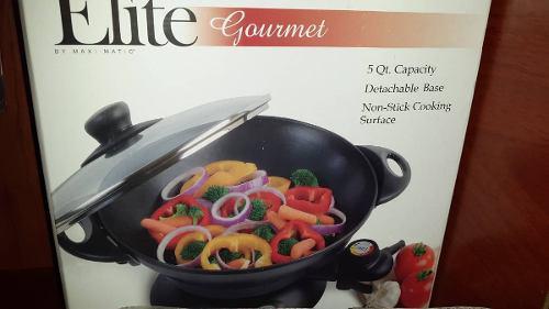 Sarten Wok Electrico Elite Gourmet 5qt