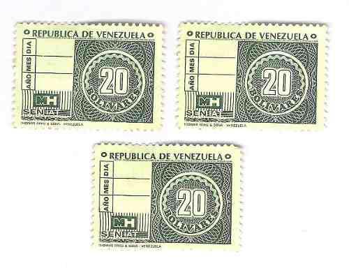 Timbres Fiscales De 20 Bolívares