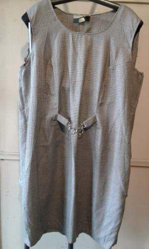 110) Vestido Para Señora Tela Pico E Gallo