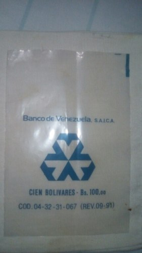 Bolsas Plasticas Monedas 3 Modelos
