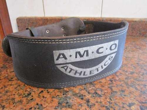 ( Bs.s) Cinturon Entrenar Pesas Amco Cuero