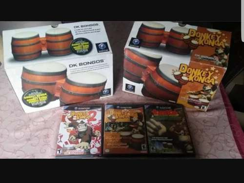Combo Juegos Donkey Konga + Dk Jungle Beat + 2 Bongos